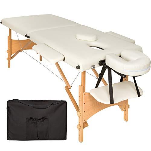 TecTake Camilla de masaje mesa de masaje banco 2 zonas...