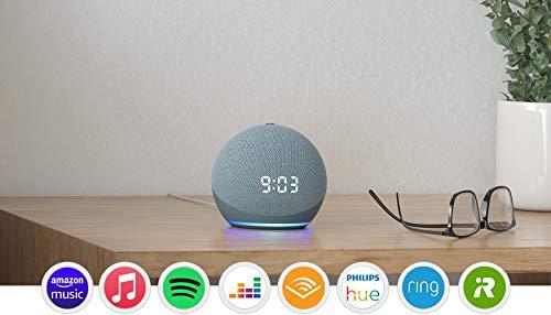 Echo Dot (4.ª generación) | Altavoz inteligente con reloj...