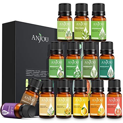 Anjou Aceites Esenciales 14 * 10ml, Aromaterapia Aceite de...