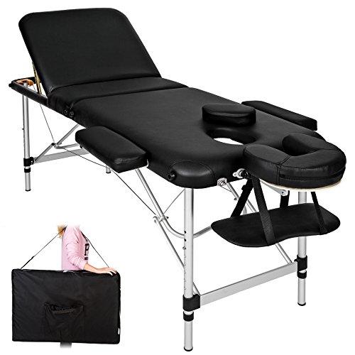 TecTake Camilla de masaje Mesa de masaje Banco de masaje en...