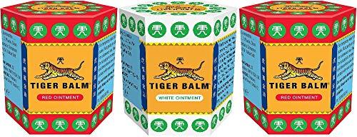 2 X Tiger Balm Red 21g + 1 X Tiger Balm White 21g (Paquete...